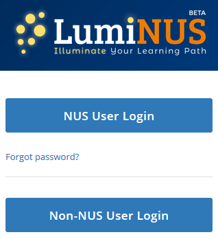 Login for non-NUS users - LumiNUS Student Guide - Wiki nus