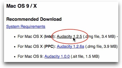 Install Audacity & LAME encoder (Mac) - Audio Recording
