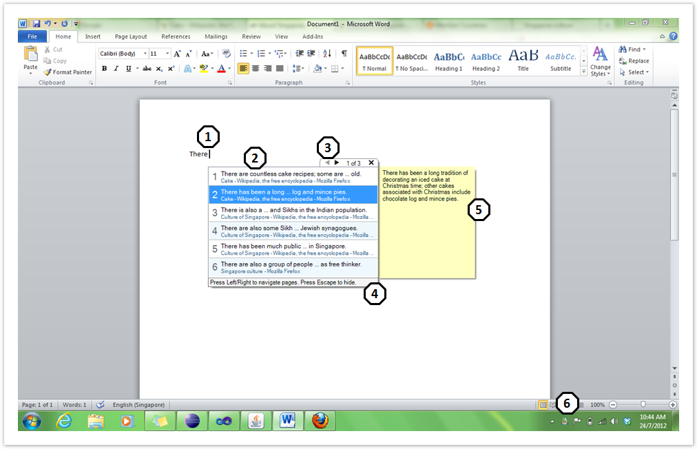 Word Add-In User Interface - CS3281 - AutoComPaste - Wiki nus