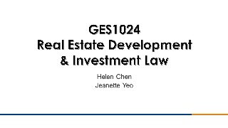 GES1024: Real Estate Development & Investment Law (18/19,S1